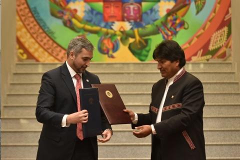 """Bolivia reafirma voluntad de """"profundizar"""" la integración con Paraguay"""