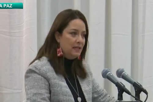 La exconcejal Rocío Molina es posesionada como la nueva gerente de Bolivia Tv