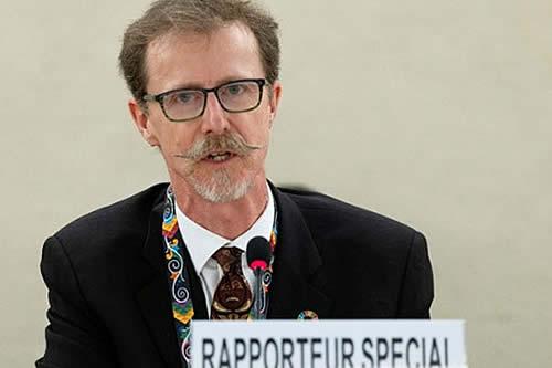 Relator de ONU sobre Derechos Humanos participará en una conferencia pública en Bolivia