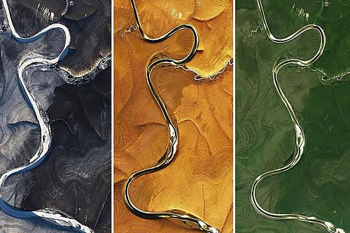 Imágenes satelitales del norte de Siberia publicadas por la NASA dejan perplejos a los científicos