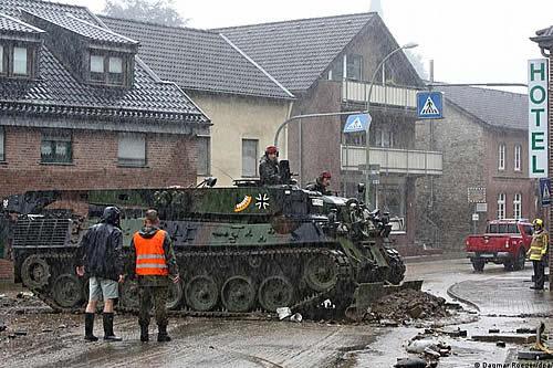 El Ministerio de Defensa alemán declara la alarma militar por catástrofe