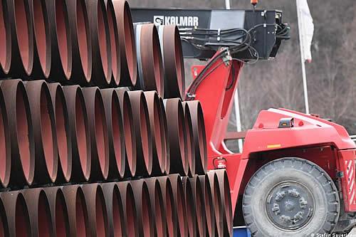 """Putin y Merkel """"satisfechos"""" ante avance del gasoducto Nord Stream 2"""