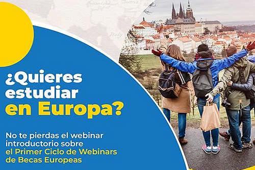 Unión Europea lanza ciclo de webinars sobre becas para estudiantes bolivianos