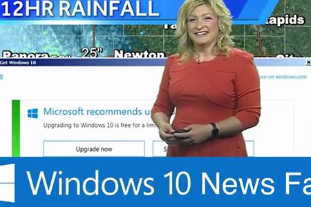 Ese momento incómodo: aviso de actualización de Windows 10 interrumpe emisión de TV