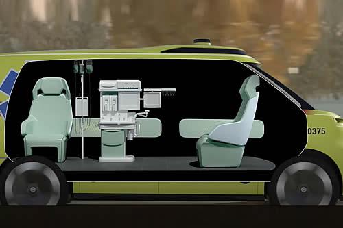 Volkswagen muestra su ambulancia futurista con conducción autónoma