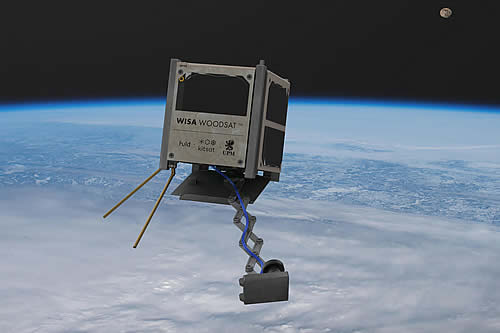 """""""Hermoso, sencillo y de diseño nórdico"""": Fabrican un satélite con madera de abedul para lanzarlo al espacio"""