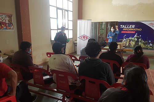 YPFB realiza talleres sobre la instalación de redes de gas en Cochabamba