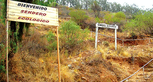 Senda ecológica parque Tunari